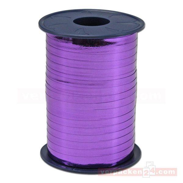 Glanzband metallisiert - 5 mm - Rolle 400 m - violett (610)