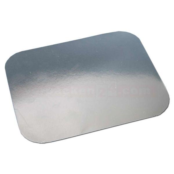 Deckel für Aluschalen, Karton alukasch. für 8863 - 140x115 mm