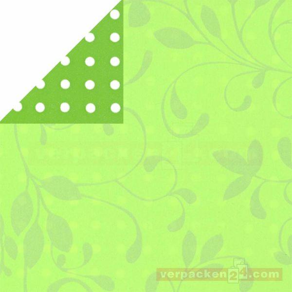 Geschenkpapier, neutral St 913065, Rolle 50 cm - Ranke grün