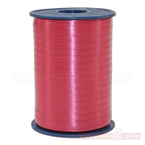 Glanzband auf Rolle 500 mtr., 5 mm - burgunder-rot (619)