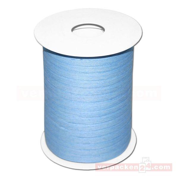 Baumwoll-Ringelband 5 mm, Rolle 200 mtr - hellblau (32)
