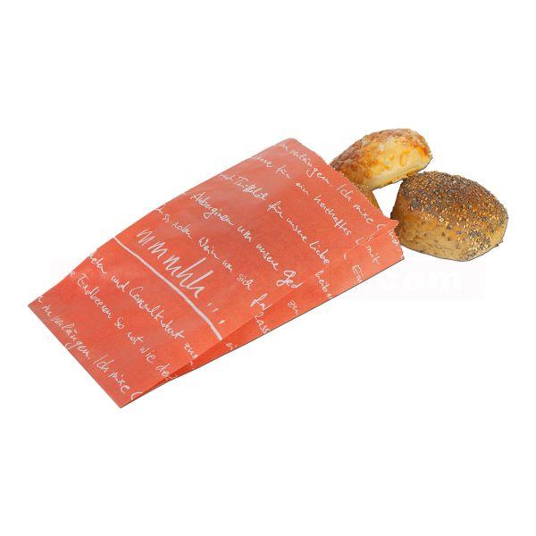 Bäckerfaltenbeutel weiß - mmmhh - neutral