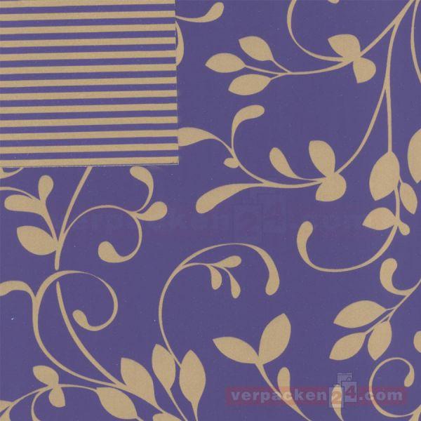 Geschenkpapier, neutral St 979792, Rolle 50 cm - Ranke blau