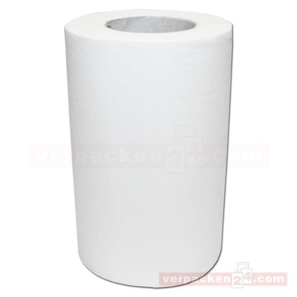 Putzrollen weiß Tissue, 1-lagig, 120 m - 20,0 cm - unperforiert