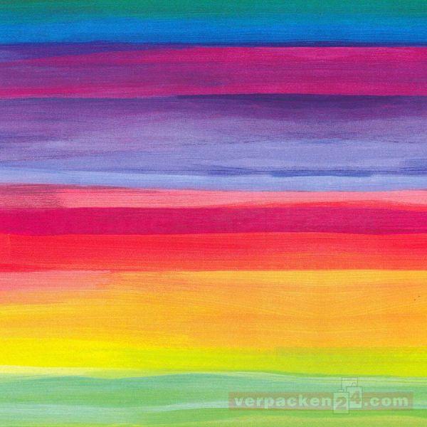 Geschenkpapier, neutral Zo 3A2263, Rolle 50 cm - Regenbogen