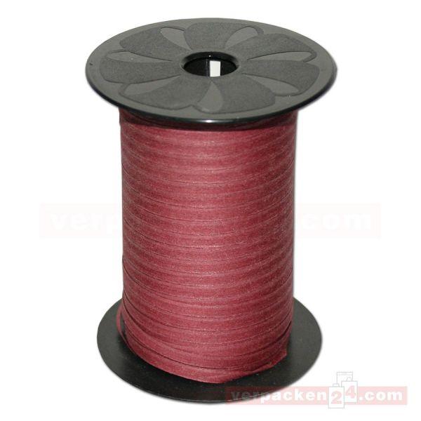 Baumwoll-Ringelband 5 mm, Rolle 250 mtr - braun (619)