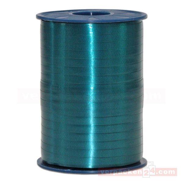 Glanzband auf Rolle 500 mtr., 5 mm - dunkelgrün (735)