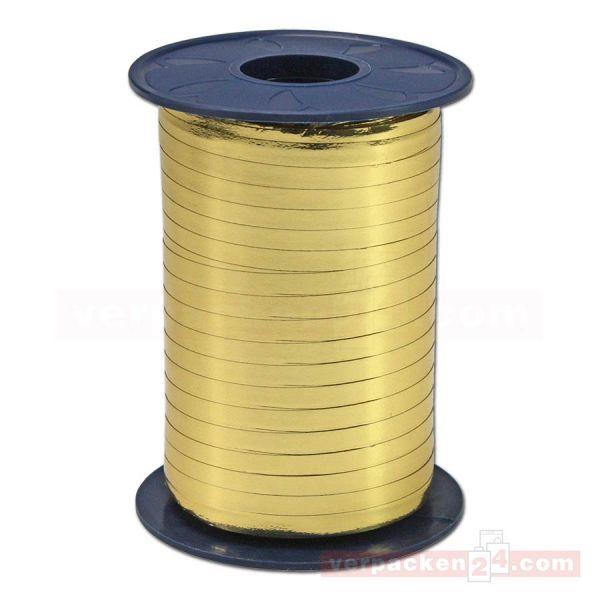 Glanzband metallisiert - 5 mm - Rolle 400 m - gold (634)