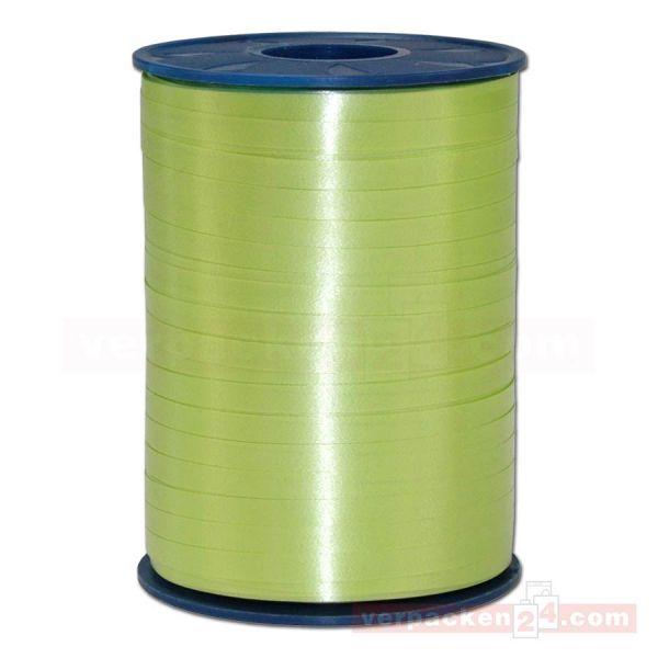 Glanzband auf Rolle 500 mtr., 5 mm - grüngelb (027)