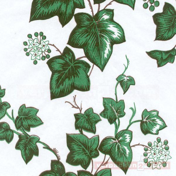 Blumenseiden, weiß 28/30 g - Efeu - Rolle - 75 cm