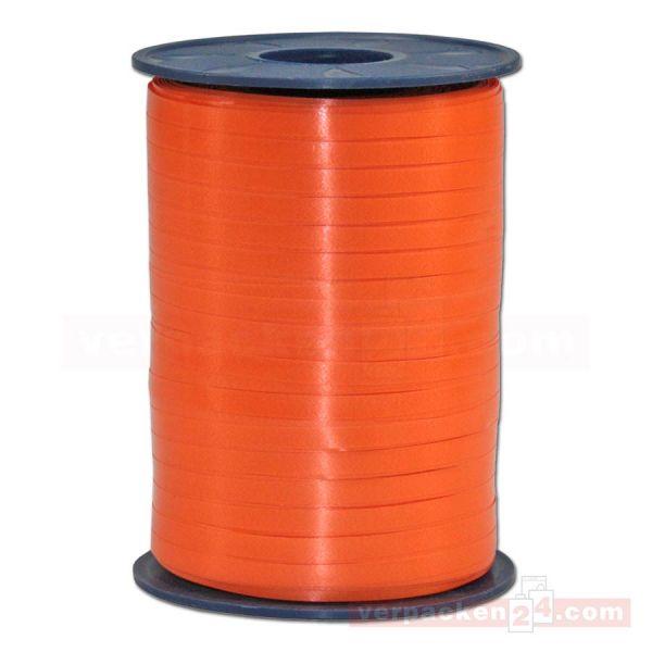 Glanzband auf Rolle 500 mtr., 5 mm - dunkelorange (023)