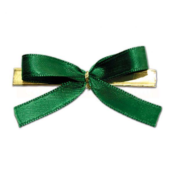 Fertigschleifen mit Clip - 2-Flügelschleifen - 60mm - grün (VE: 100 Schleifen)