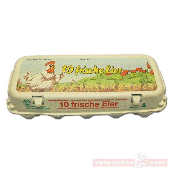 Eierverpackung aus Holzschliff, kompostierbar - für 10 Eier