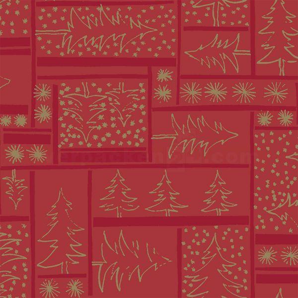 Geschenkpapier Weihnachten.Weihnachts Geschenkpapier W 59711 Rolle 50cm Tannenbaummuster Rot