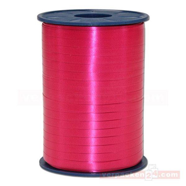 Glanzband auf Rolle 500 mtr., 5 mm - mittelrot (019)