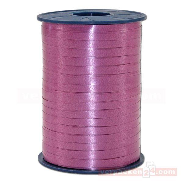 Glanzband auf Rolle 500 mtr., 5 mm - rubinrot (028)