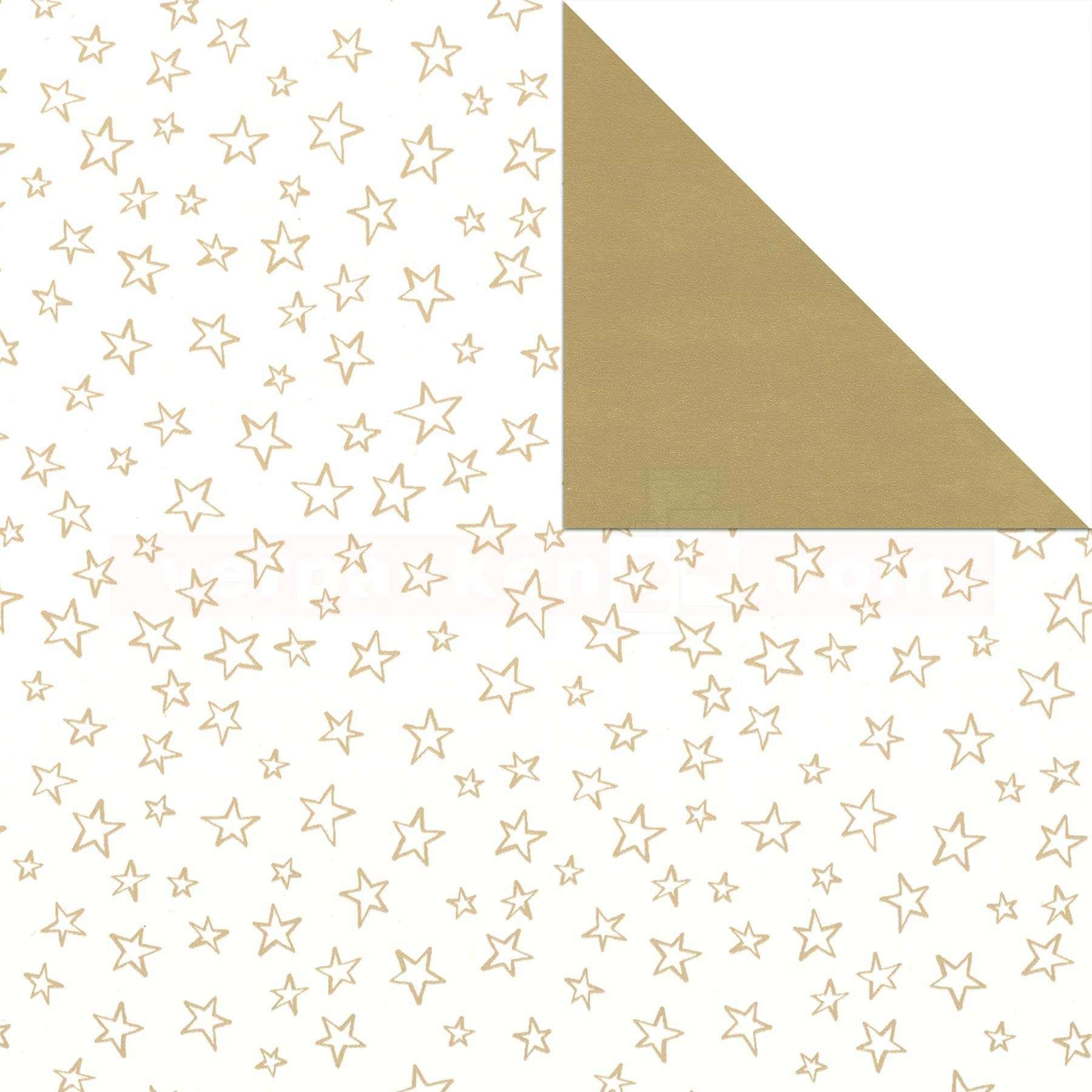 Geschenkpapier Weihnachten Sterne gold 50cm | verpacken24.com ...