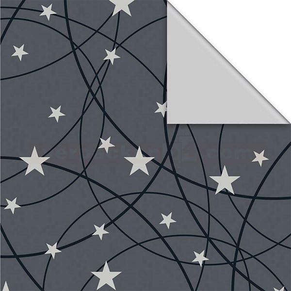 Weihnachts Geschenkpapier St 916301, Rolle 50 cm - Sterne Linien