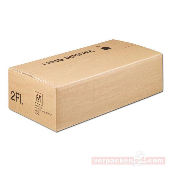 Versandkarton DU-LOG, 2 Flaschen - Umkarton - PTZ-Postgeprüft
