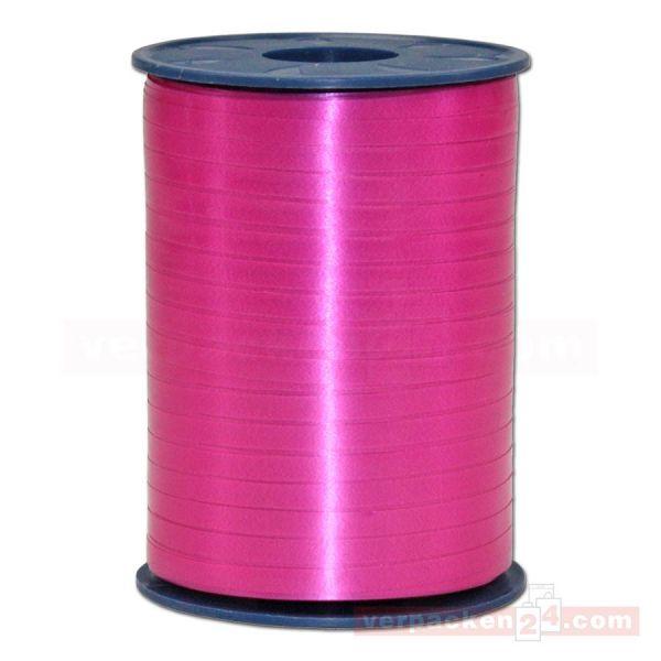 Glanzband auf Rolle 500 mtr., 5 mm - pink (606)
