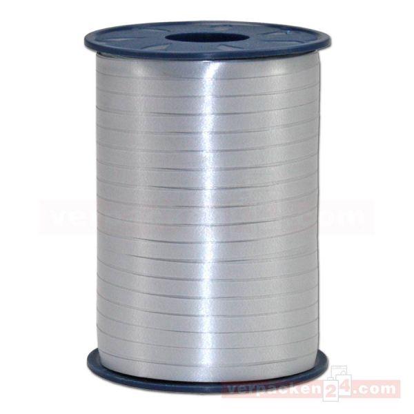 Glanzband auf Rolle 500 mtr., 5 mm - silber (631)