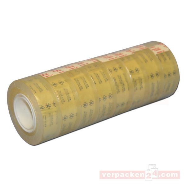 Klebeband, transparent, superklar, Rolle 33 m - 19 mm