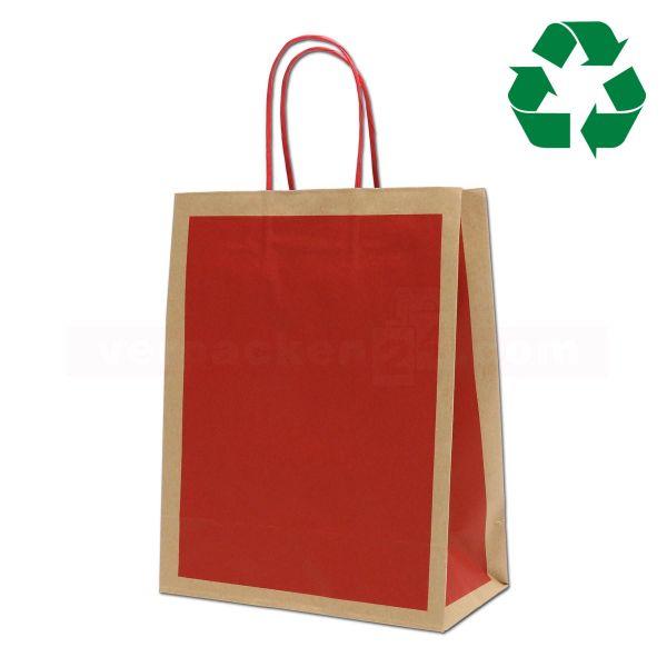 Papiertragetasche Mainz ECOLOGY rot - Recyclingpapier