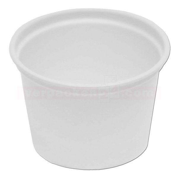 Verpackungsbecher PC rund - Becher - Polystyrol weiß