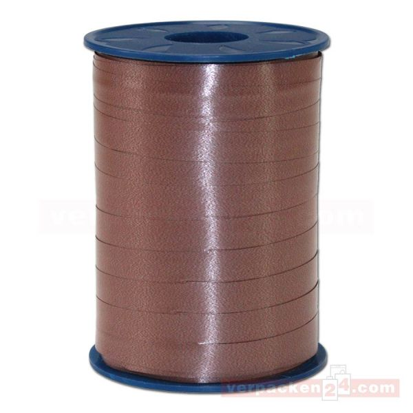 Glanzband auf Rolle 250 mtr., 9 mm - braun (622)