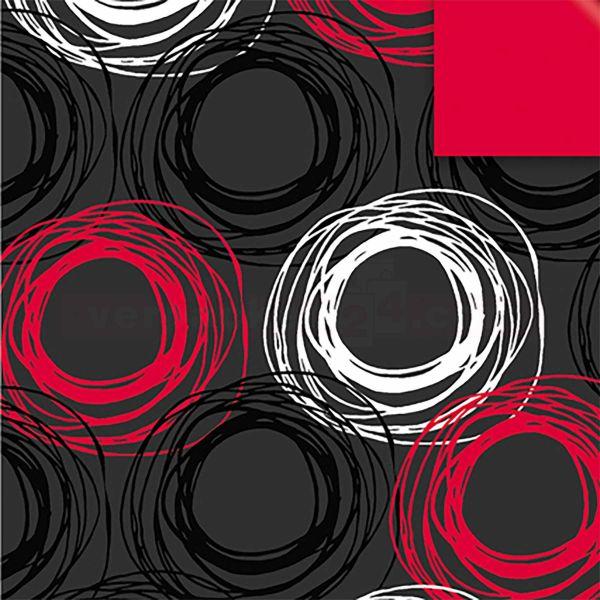 Geschenkpapier, neutral St 916080, Rolle 50 cm - Kringel schwarz