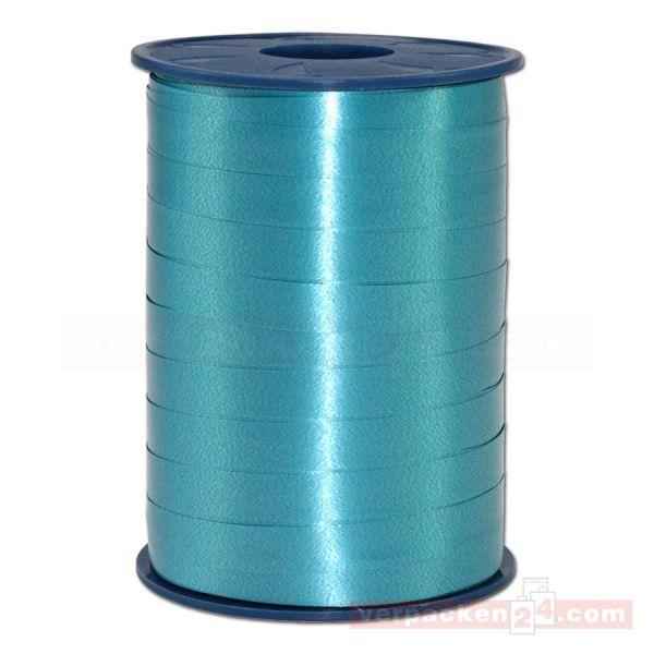 Glanzband auf Rolle 250 mtr., 9 mm - blaugrün (603)