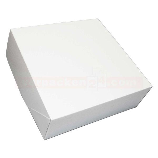 Tortenkarton, mit Deckel, weiß - 1-teilig - 320x320x115mm