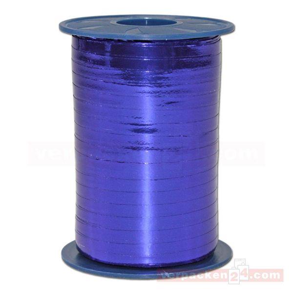 Glanzband metallisiert - 5 mm - Rolle 400 m - blau (614)
