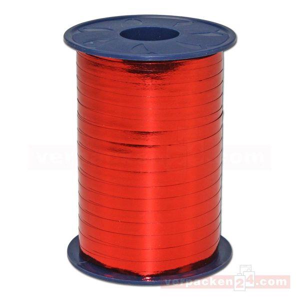 Glanzband metallisiert - 5 mm - Rolle 400 m - rot (609)