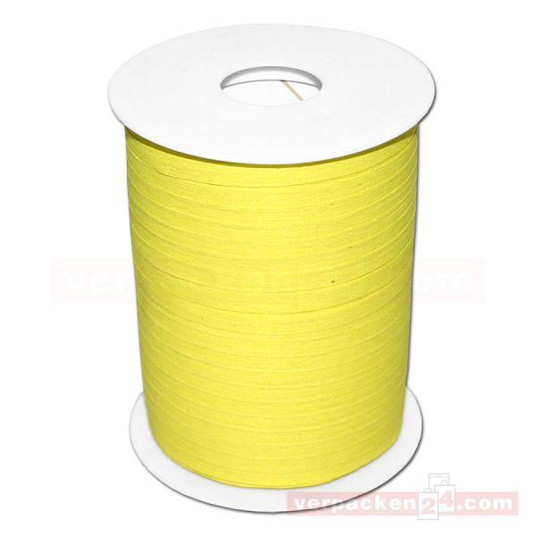 Baumwoll-Ringelband 5 mm, Rolle 200 mtr - gelb (10)