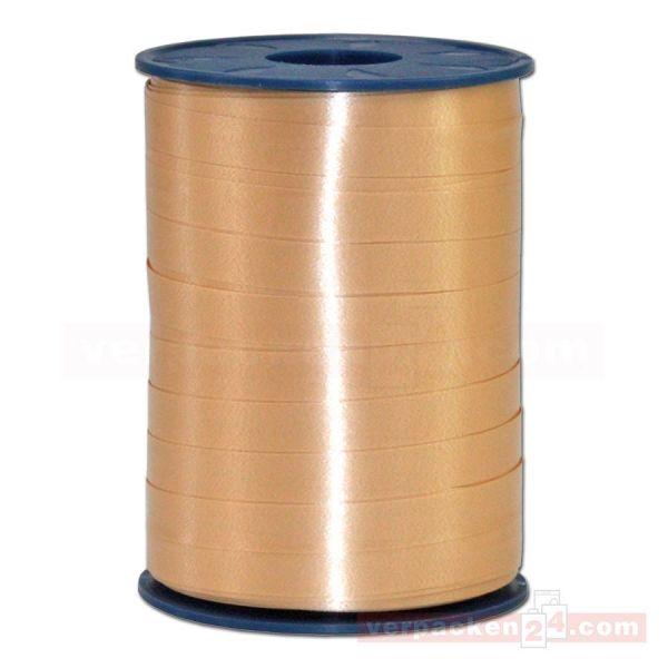 Glanzband auf Rolle 250 mtr., 9 mm - hellgold (134)