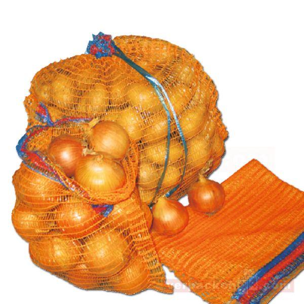 Raschelsäcke goldgelb, mit Zugband - 32x47 cm - 5 kg