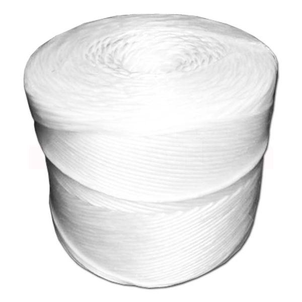 Synthetik-Garn weiß - Kunststofffaser - Kordel auf Rolle
