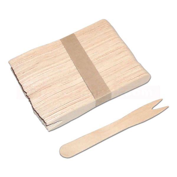 Holzbesteck - Holzgabel, klein, 2 Zinken 85 mm