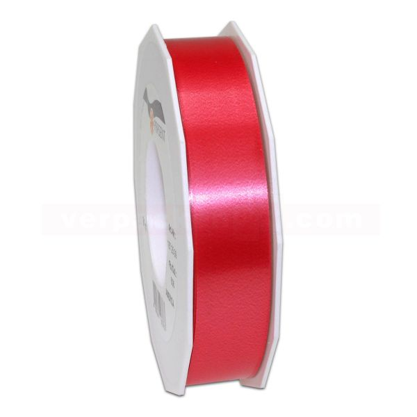 Glanzband auf Rolle 091 mtr., 25 mm - rot (609)