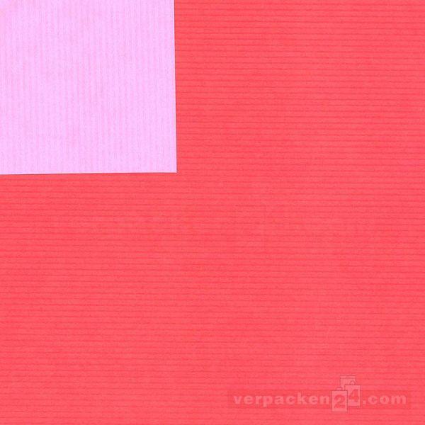Geschenkpapier, neutral St 37008, Rolle 50 cm - hellrot/rosa