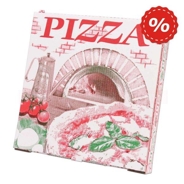 Pizzakarton, weiße Feinwelle neutral - 22x22+3cm