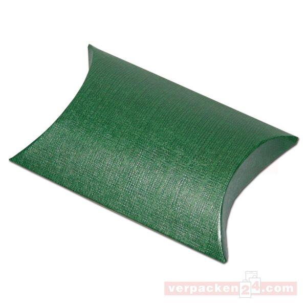 Börsen, dunkelgrün / Leinen - 85x85x30 mm - (30504)