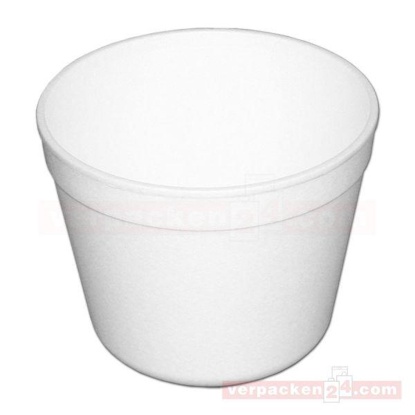 Thermo-Becher, EPS weiß geschäumt - 570 ccm - ideal für Suppen