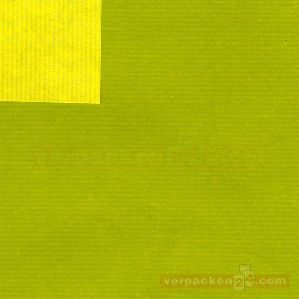 Geschenkpapier, neutral B 11012, Rolle 50 cm - limone/hellgrün