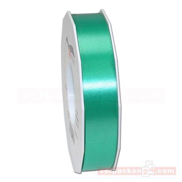 Glanzband - Lucky - lackiert Rolle 50m, 25 mm - grün (607)
