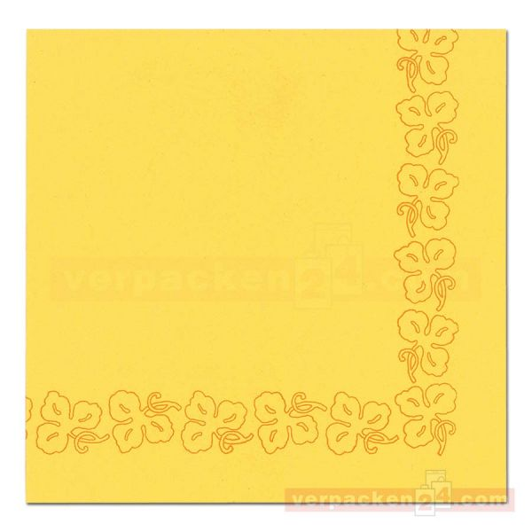 DUNI Dunicel-Servietten, Weinranke, 41x41cm - gelb