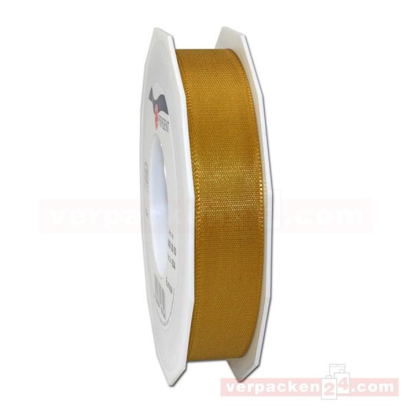 Seidenband - Europa - Rolle 50 m, 25 mm - gold (634)
