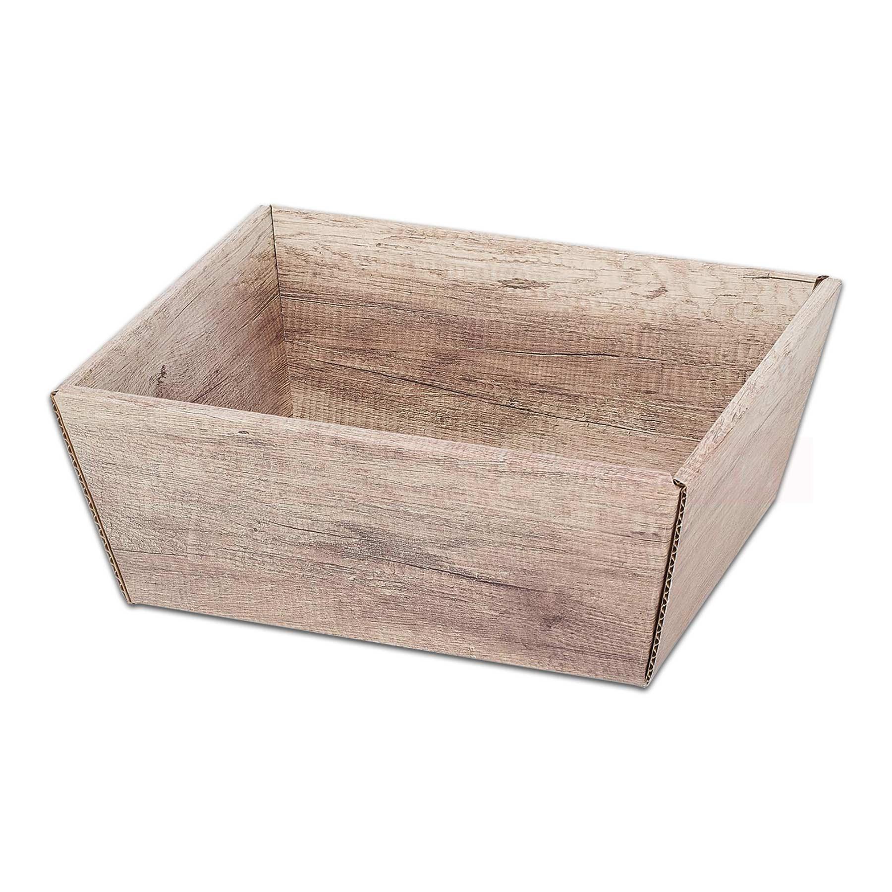 weihnachtskorb pr sentkorb viereckig wood holzoptik online shop. Black Bedroom Furniture Sets. Home Design Ideas