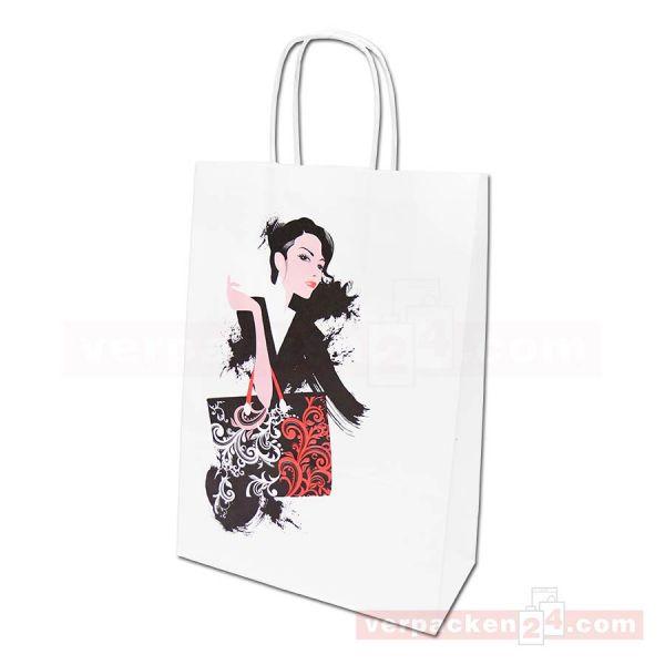 Papiertragetasche Trier DESIGN - Shopping Lady - Einkaufstasche